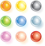 Colored balls. Colored glass spheres for your design-(vector available stock illustration