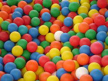 Colored balls. Colored plastic balls in bouncy castle Royalty Free Stock Image