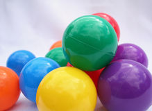 Colored Balls. Colorful falls from a child's ball pit Royalty Free Stock Image