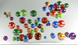 Colored balls Stock Photos