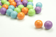Colored balls. Various colored balls on white background Royalty Free Stock Photo