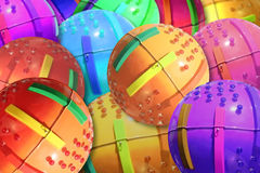 Colored balls. Small colored toy balls with lights Stock Image