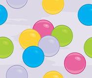 Colored balls on the abstract background. Illustration Royalty Free Stock Image