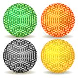 Colored balls against white Stock Photography