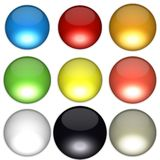 Colored balls. Arranged according to feng shui bagua diagram Stock Images