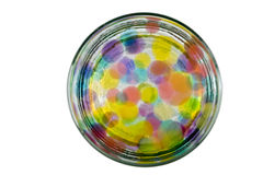 Colored balls background. Abstract background of colored bubbles Stock Photos