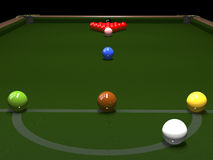 Colored balls for billiards Stock Photo
