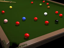 Colored balls for billiards Royalty Free Stock Photo