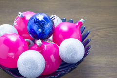 Colored balls for Christmas tree Royalty Free Stock Photos