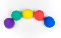 Colored balls of clay royalty free stock image