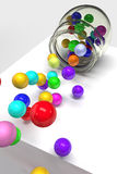Colored balls Royalty Free Stock Image