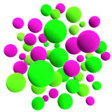 Colored balls. 3d volumetric sphere balls background Stock Images