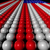 Colored balls forming the american flag Stock Images