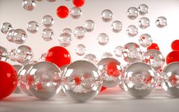 Colored balls Stock Photography