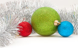 Colored balls and garland Royalty Free Stock Image