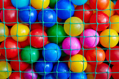 The colored balls in the grid royalty free stock photography