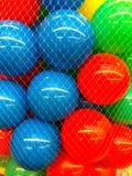 Colored  balls in grid. Studio Photo Stock Image
