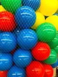 Colored  balls in grid. Studio Photo Royalty Free Stock Photography