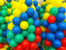 Colored  balls in grid. Studio Photo Royalty Free Stock Photos