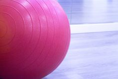 Colored balls for pilates. Colored balls for gymnastics and pilates classes royalty free stock photo