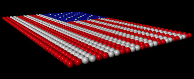 Colored balls in the image of the american flag Royalty Free Stock Photo
