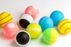 Colored balls ping pong Royalty Free Stock Photography