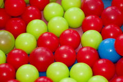 Colored balls on the playground Stock Photo
