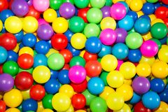 Colored balls to play 2. Colorful plastic balls in which children can jump, swim and play Royalty Free Stock Image