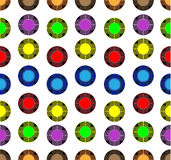 Colored balls of yellow, blue, purple and green colors Stock Photography