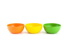 Colored bamboo bowl. Royalty Free Stock Image