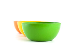 Colored bamboo bowl. Royalty Free Stock Photography