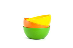 Colored bamboo bowl. Stock Photo