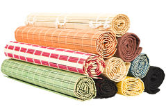 Colored bamboo napkinss Stock Images
