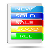 Colored banners. Stock Photography