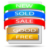 Colored banners. Royalty Free Stock Images