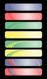 Colored banners Royalty Free Stock Photography