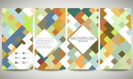 Colored banners collection, flyer layouts, vector Royalty Free Stock Photos