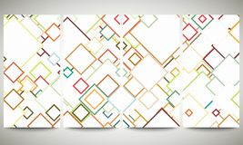 Colored banners collection, flyer layouts, vector Royalty Free Stock Photography
