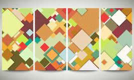 Colored banners collection, flyer layouts, vector Stock Image