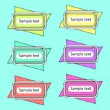 Colored Banners 2. Few colored banners on the blue background. Vector illustration Royalty Free Stock Photos