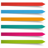 6 Colored Banners Long Arrows Royalty Free Stock Photos