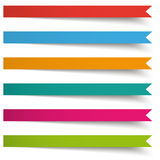6 Colored Banners Long Flags Royalty Free Stock Photo
