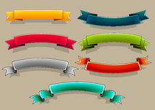 Colored banners. Set of seven colorful banners Stock Illustration