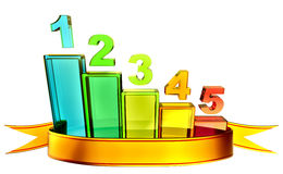 Colored bar chart depicting growth Royalty Free Stock Images