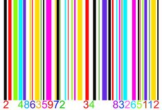 Colored bar code Stock Images