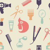 Colored Barbershop Pattern Royalty Free Stock Images