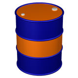 Colored barrel. 3D rendering. Stock Photography