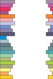 Colored bars - vector Stock Image