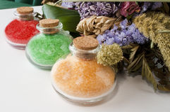 Colored bath salts 2 Royalty Free Stock Photography