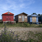 Colored bathing cabins Stock Image
